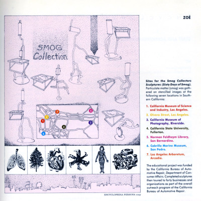 Kim Abeles, Smog Collectors catalogue page