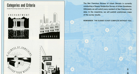 Bureau of Urban Secrets, A Deeply Subjective Survey of Urban Goodness