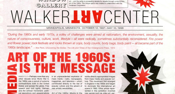 Art of the 1960s: Media is the Message