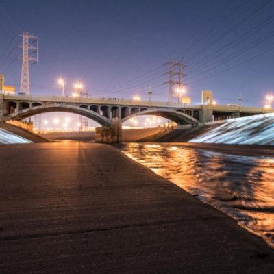 Refik Anadol/Peggy Weil, UnderLA, 1st St. bridge