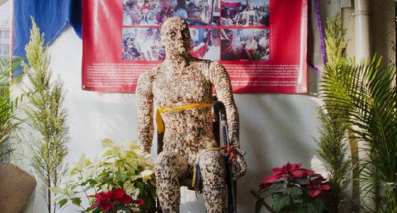 Alfadir Luna, Señor del Maiz (Corn Man), 2011 life-size sculpture